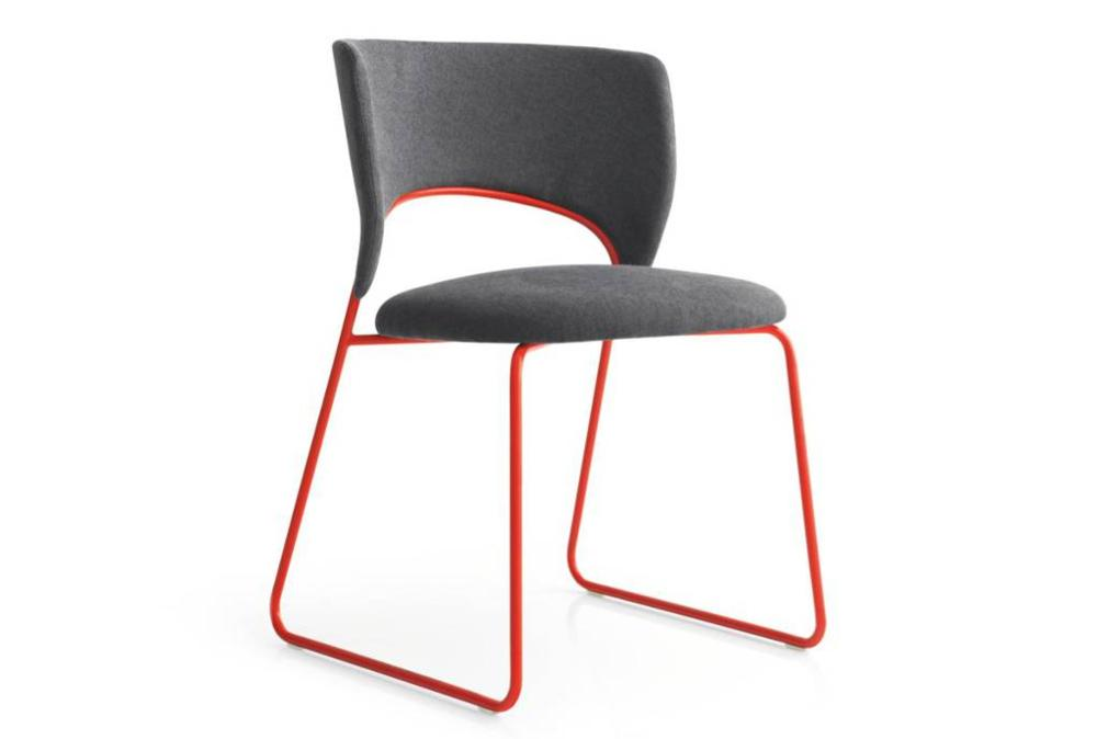 Calligaris duffy dining chair red front  Calligaris product shots   Match, Duffy