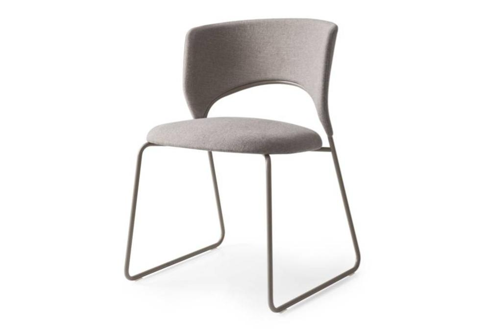Calligaris duffy dining chair taupe front  Calligaris product shots   Match, Duffy