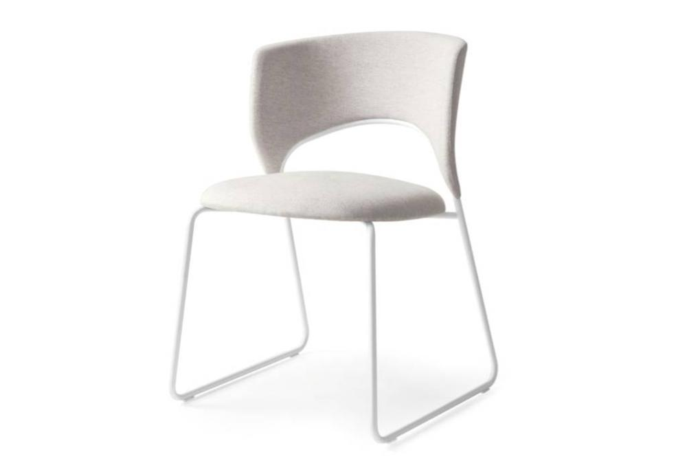Calligaris duffy dining chair white front  Calligaris product shots   Match, Duffy