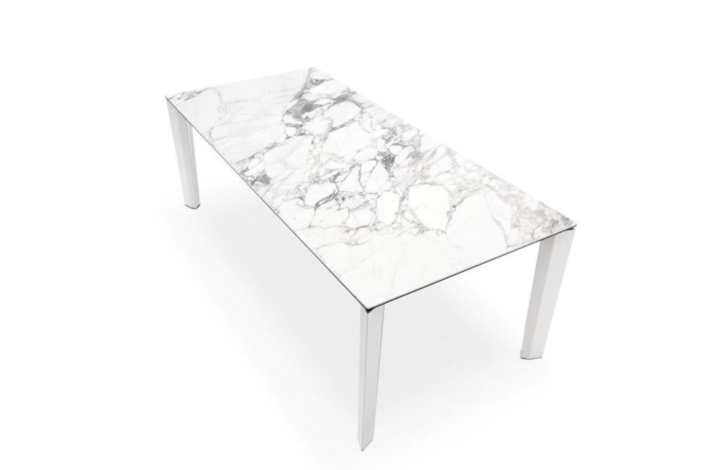 Calligaris Delta Marble Closed  Delta Dining Table  Marble Top Extension