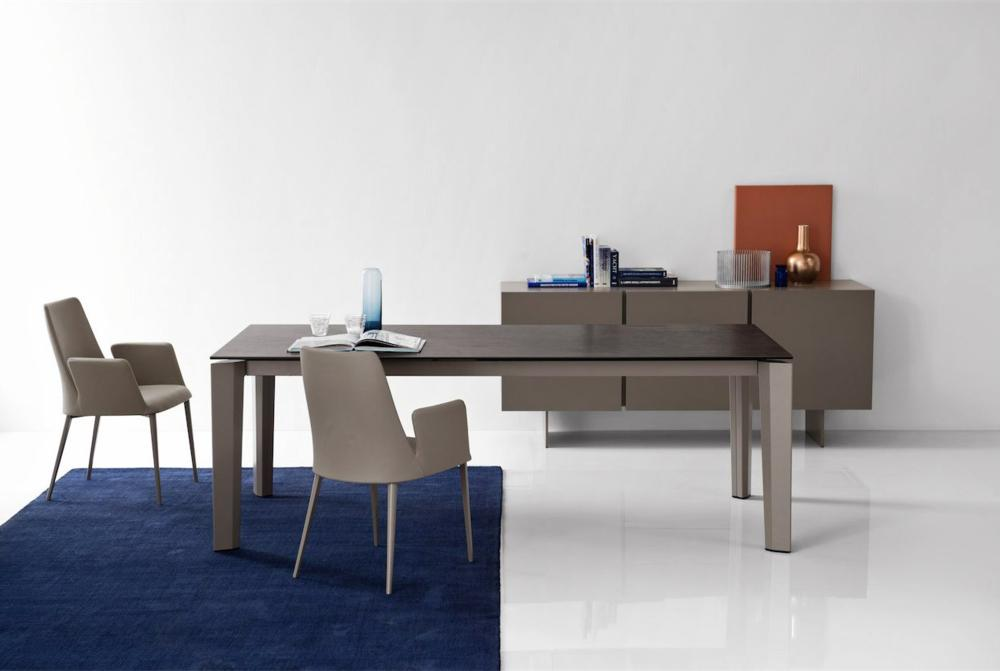 Calligaris Delta Etoile Setting  Delta Dining Table  Marble Top Extension